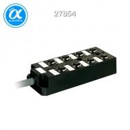 [무어] 27854 / M12 분배시스템/모듈 / PASSIVE-DI0° PLASTIC,8XM12,5POL,PRE-WIRED CABLE / 10.0m PUR-JB 16*0,34+3*0,75