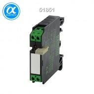 [무어] 51851 / 릴레이 모듈 / RMM 11/24VDC WITH GROUND BRIDGE OUTPUT RELAY / IN: 24 VAC/DC - OUT: 250 VAC/DC / 5 A / 1 N/O contact - 12 mm screw-type terminal