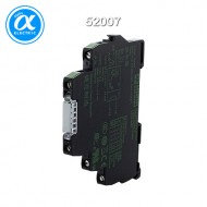 [무어] 52007 / 릴레이 모듈 / MIRO 6.2 OUTPUT RELAY WITH TOGGLE SWITCH / IN: 24 VAC/DC - OUT: 250 VAC/DC / 6 A / 1 N/O contact - 6,2 mm screw-type terminal