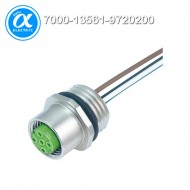 [무어] 7000-13561-9720200 / 플랜지 커넥터/Signal / M12 female receptacle A-cod. front mount / PP-wires 5X0.34 2m