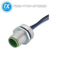 [무어] 7000-17161-9730020 / 플랜지 커넥터/Signal / M12 MALE FLANGE PLUG A CODED FRONT MOUNT / PP-wires 8x0,25 0.2m
