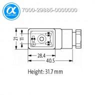[무어] 7000-29885-0000000 / 밸브 커넥터 / SVS ECO LED VALVE PLUG FORM B 11MM LED VDR 110V / 2접점+PE field-wireable M16x1.5 / 110 V AC/DC ±15%
