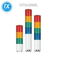 [큐라이트] QTGA50ML / 시그널 타워램프(Ø50) / 직부형 / 외경 50mm LED 점등/점멸형 타워램프 / Max.85dB 부저음 조절형(선택 사양)
