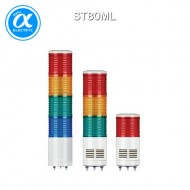 [큐라이트] ST80ML / 시그널 타워램프(Ø80) / 직부형 / 외경 80mm LED 점등/점멸형 타워램프 / Max.90dB 부저음 고정형(선택 사양)