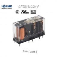 [삼원ACT] SFS3-DC24V / 세이프티 릴레이 / 4극, 접점 3a1b (3NO+1NC) / 코일 전압 24VDC