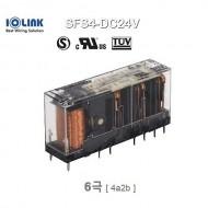 [삼원ACT] SFS4-DC24V / 세이프티 릴레이 / 6극, 접점 4a2b (4NO+2NC) / 코일 전압 24VDC
