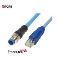 [삼원ACT] M12C-LEC-H□ / 필드버스케이블 / RJ45 콘넥터 일체형 EtherCAT 케이블 / UL-내유성-가동용