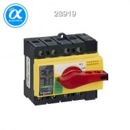[슈나이더] 28919 / 스위치 단로기 / 스위치 디스커넥터 / Compact INS63 / Switch-disconnector / 4P - 63A - 적색 회전핸들