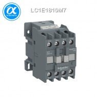 [슈나이더] LC1E1810M7 / 전자접촉기(MC) / EasyPact TVS / 접촉기 TVS / 3P - AC-3 - 440V 18A - 코일 220V AC 50/60Hz - 1NO / [구매단위 36개]
