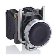 [슈나이더]XB4BA21 /누름버트 스위치/메탈 베젤 일체형 흑색 1A접점
