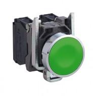 [슈나이더]XB4BA31 /누름버트 스위치/메탈 베젤 일체형 녹색 1A접점