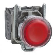 [슈나이더]XB4BW34B5 /조광누름버트 스위치/메탈 베젤 DC24V 적색 1A1B접점