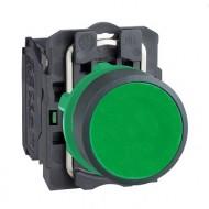 [슈나이더]XB5AA31 /누름버트 스위치/플라스틱 베젤 일체형 녹색 1A접점