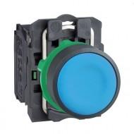 [슈나이더]XB5AA61 /누름버트 스위치/플라스틱 베젤 일체형 청색 1A접점
