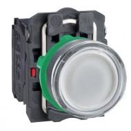 [슈나이더]XB5AW31B5 /조광누름버트 스위치/플라스틱 베젤 DC24V 백색 1A1B 접점