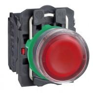 [슈나이더]XB5AW34B5 /조광누름버트 스위치/플라스틱 베젤 DC24V 적색 1A1B 접점