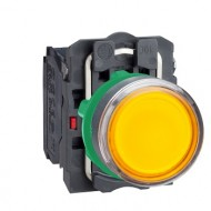[슈나이더]XB5AW35B5 /조광누름버트 스위치/플라스틱 베젤 DC24V 황색 1A1B 접점