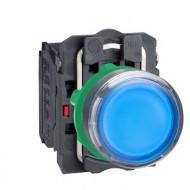 [슈나이더]XB5AW36B5 /조광누름버트 스위치/플라스틱 베젤 DC24V 청색 1A1B 접점